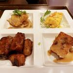 中国菜房 くどう - 全部揚げている。全部美味しい。特に右奥のエビマヨはマンゴーマヨネーズソース!!御洒落台湾上品中華。