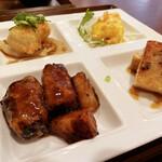中国菜房 くどう - 角煮を揚げた感じ。カリカリの表面の中はホロっとくずれる豚肉。八角が程よくアクセントに。