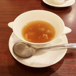 中国菜房 くどう - +400円でフカヒレスープ。