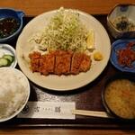 吉膳 - ヒレカツ定食(約120グラム)