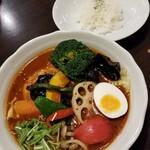 西屯田通りスープカレー本舗 - とり野菜 1500円