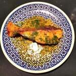 カリーバー・ミルチ - 鱈のパクチーとレモンソース 720円だよ