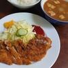 Sekishin - 料理写真:Aセット(トンカツ·豚汁·ゴハン)♪