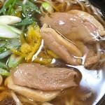 名代 箱根そば - 鴨肉をアップで