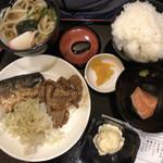 Tamoya - 塩サバと豚の生姜焼き