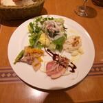 ペッシェドーロ - 前菜のサラダ