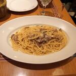 ペッシェドーロ - スパゲッティ ポルチーニ茸のクリームソース