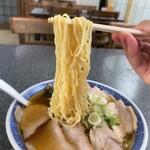いろは食堂  - いろは食堂@鶴岡 中華そば・肉多め 麺リフト