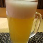 土風炉 - 北海道大雪山の淡雪 白富士地ビール(中):577円