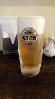 中華食堂 きずな  - 生ビール:380円