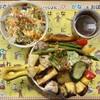 ソウノスケカレー - 料理写真:「焼きカレーセット(サラダ・ドリンク)」@1100+「3辛」@150+「ライス増し」@100
