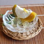 Chimatsushima - かぼちゃの豆腐詰め、かぼちゃのジェル