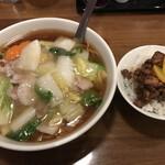 Shintaiki - 五目あんかけつゆそばとミニ魯肉飯のセット