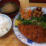 鳴門屋よかいち - 豚カツ定食 500円