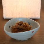増田屋 - 無料のお通しのしらたきと茸のキンピラ