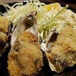 日本酒と生牡蠣 赤坂ソネマリ - 以前よりも衣が薄くなった