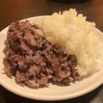 やっぱりステーキ - ご飯(白米・黒米)