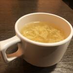 やっぱりステーキ - 玉子スープ