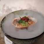 ロゼット - 香箱蟹と雲丹と海水ジュレ