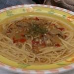 モンブラン - スープスパゲッティー(あさりコンソメ)