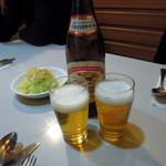 レストラン三幸 - 中瓶ビール500円