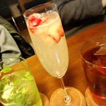 PRIMI - クラッシュ苺のシャンパン550円