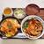 つきよみ食堂 - 料理写真:ミニかつ丼とだし割り月見うどん