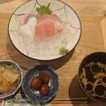 金沢炉端 魚界人 - 北陸旬魚のお刺身定食1,200円