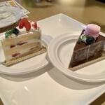 ラヴィアンローズ - シャンティフレーズ(左)とガトーショコラ(右)/各550円(税込)
