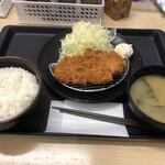 松のや - 得朝ロースカツ定食(400円)