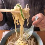 満北亭 - 太麺最高〜( ̄∇ ̄)暖まります‼️