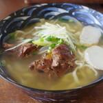 Sanchoumenoshimasobaya - 炙り軟骨ソーキそば並