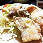 大衆割烹まるはち - 若鶏唐揚(¥600)これまた美味し!