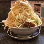 山次郎 - ラーメン 野菜マシマシ 脂マシ