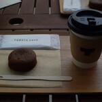 トラヤカフェ・あんスタンド - あんペーストフォンダンとほうじ茶