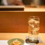 恵比寿 鮨 栞庵 やましろ - あん肝の生姜煮