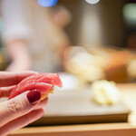 恵比寿 鮨 栞庵 やましろ - 大間の本マグロ赤身