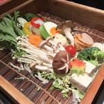 華蓮 - 蒸ししゃぶの野菜盛り