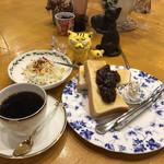 長靴と猫 - 小倉トーストモーニング900円(税込)