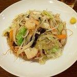 ビヤホールライオン - たっぶり野菜あん海鮮皿うどん・大盛(上から)
