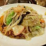 ビヤホールライオン - たっぶり野菜あん海鮮皿うどん・大盛