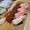 寿司処 松の - 料理写真:左からホタテ、ボタンエビ、いくら、かに