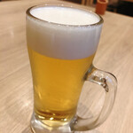 うなぎ和食 しら河 - 生ビール小をいただきま~す