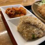 カフェ ニコ - 日替ランチ720円につくキムチと卯の花