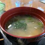 カフェ ニコ - 日替ランチ720円につくお味噌汁