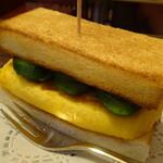切通し進々堂 - 上玉子トースト350円