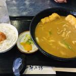半二郎 - カレーセット(しらすご飯)¥950