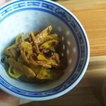 発酵食堂 ろじうら - カレー味のキノコのマリネ?