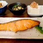 リゾム - 絶品!自家製 鮭の味噌漬け焼き定食