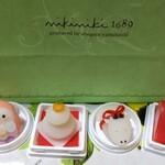 nikiniki - 季節の生菓子 各300円:可愛すぎる生八ッ橋!シナモンは薄め。